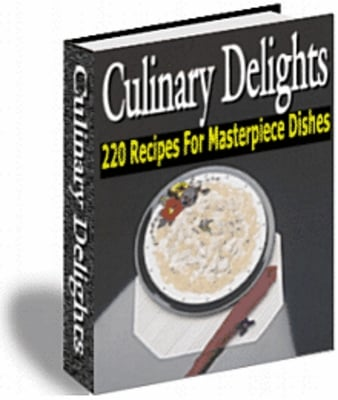 Product picture 220 Recipes for Masterpiece Dishes